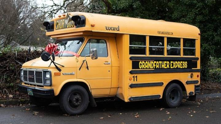 Grandad Buys A School Bus To Take His 10 Grandkids To School