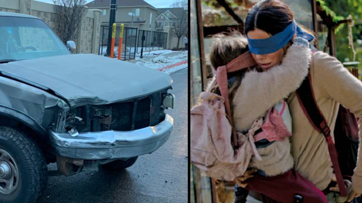 Teen Crashes Car After 'Attempting Bird Box Challenge' While Driving
