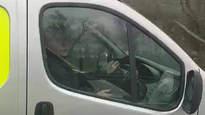 Speed Camera Van Driver Caught Scrolling Through Phone While Driving