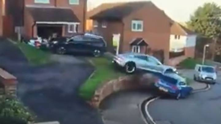 Porsche Driver Crashes Into Two Cars After Accelerating Off Driveway