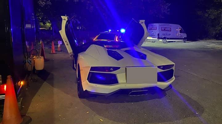 Tearful Lamborghini Driver Says Tax 'Too Expensive' As Police Seize Car