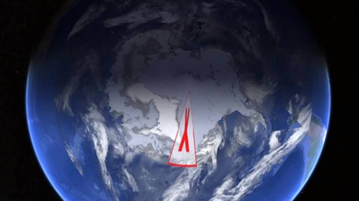 Conspiracy Theorists Are Frothing Over Weird X Over Antarctica On Google Earth