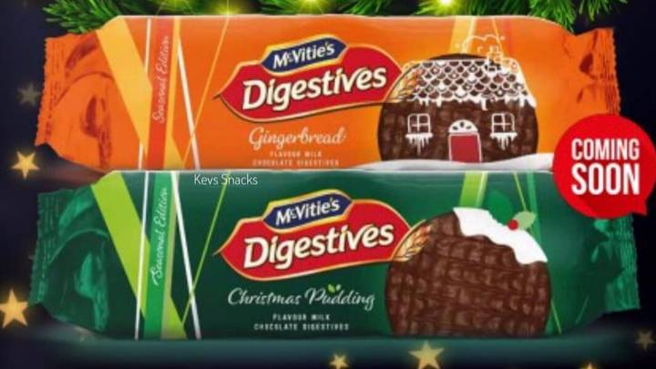 McVitie's Is Launching Gingerbread And Christmas Pudding Digestives Next Month