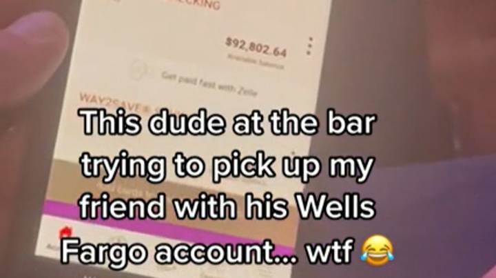 Man Tries To Impress Woman At Bar By Showing Off Bank Account Funds