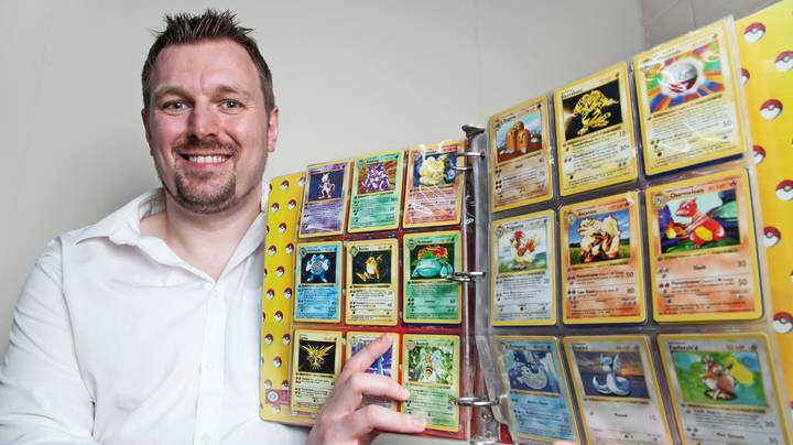 Dad Discovers His Rare Pokemon Card Collection Is Now Worth £35,000