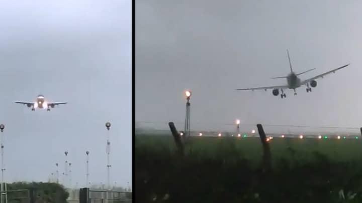 Video Shows Plane Making Dramatic Landing During Hurricane Ophelia