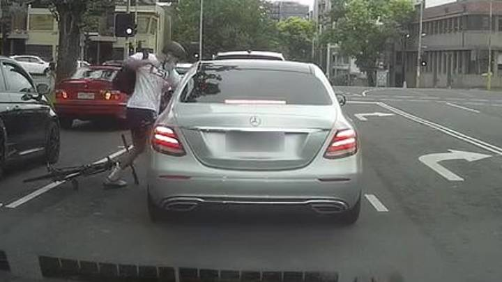 Australian Cyclist Hurls Punches At Passenger After Being Hit With Rubbish