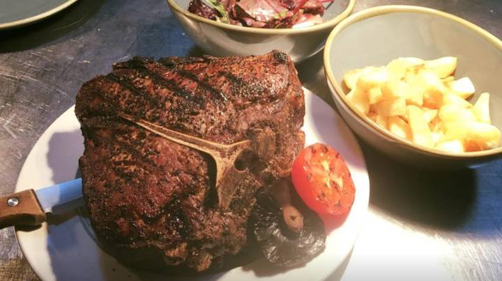 Restaurant Will Give You A 96oz Steak For Free But Only If You Finish The Entire Thing