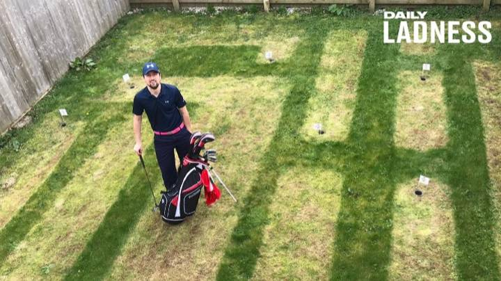 Golf Fan Creates 'Mini Masters' Course In His Back Garden