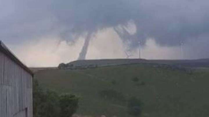 Huge Twister Spotted Over Moorland As Storms Hit The UK