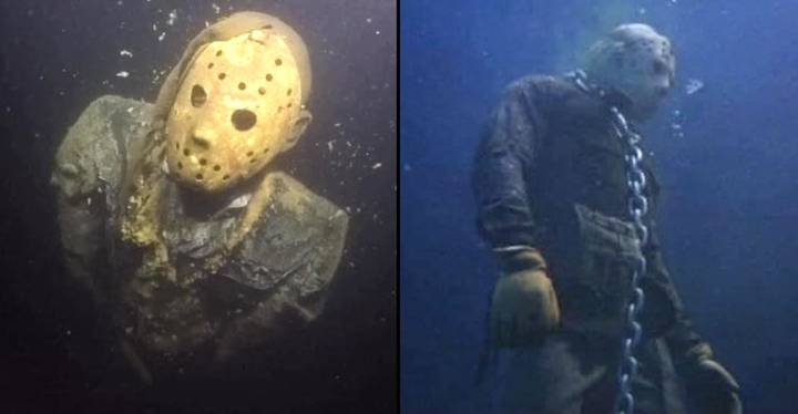 Someone Put A Jason Statue At The Bottom Of A Lake In Arizona