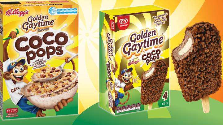 Golden Gaytime Team Up With Coco Pops To Create Honeycomb Cereal And Chocolate Ice Cream