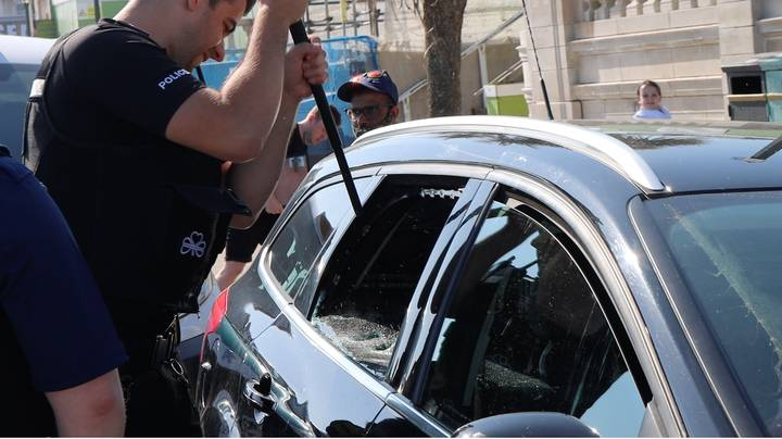 Owner Complains About Broken Window After Police Rescue Two Dogs From Sweltering Car