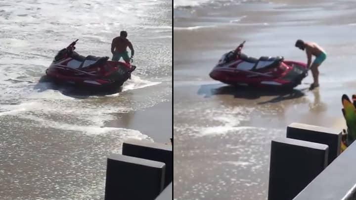 LAD Trolls Dan Bilzerian As He Struggles With His Jet Ski