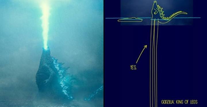 Artist Imagines How Godzilla Was Able To Stand In The Ocean