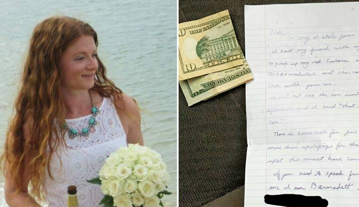 Woman Believes Her Car Was Stolen Until She Got This Note