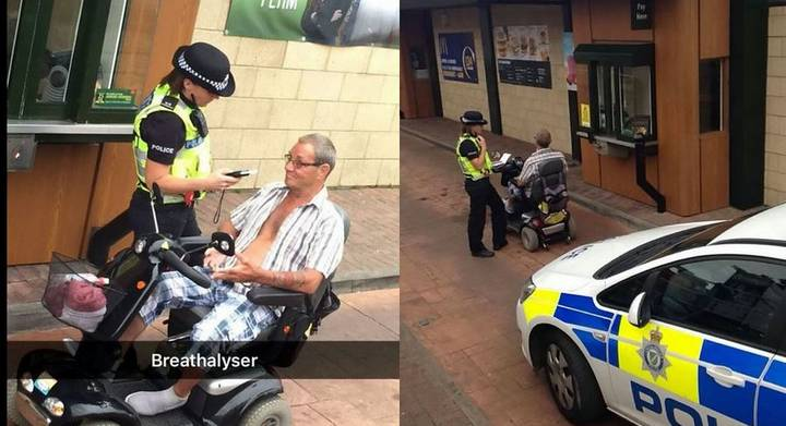 Mobility Scooter Driving Pensioner Denied Maccies Then Arrested By Cops For Being Pissed