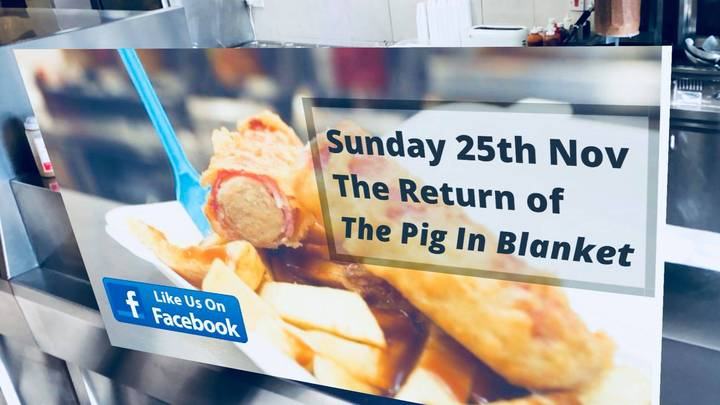 Foot-Long Battered Pigs In Blankets Are Here To Make Your Festive Dreams Come True