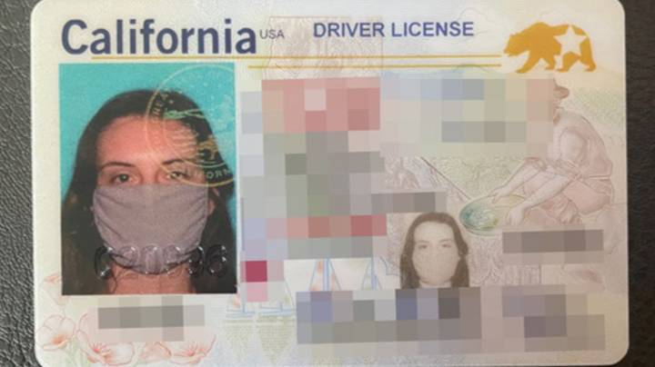 Woman Forgets To Take Off Face Mask For Driving Licence Photo