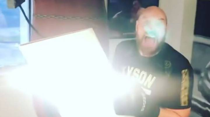 Tyson Fury Hits Punch Bag So Hard That Gym Ceiling Collapsed