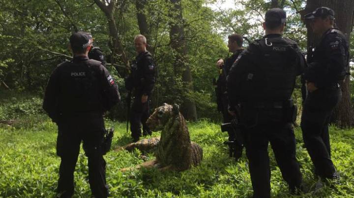 Armed Police Called Out To 'Catch' Tiger Sculpture