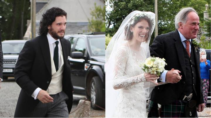 Kit Harington And Rose Leslie Arrive At Church To Get Married