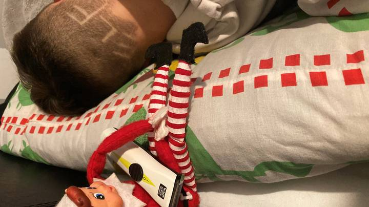 Mum Shaves Teen Son's Head And Blames Elf On The Shelf