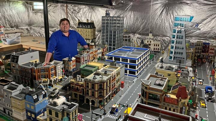 Lego-Loving Dad Spends £70,000 On Building Huge Model City In Basement