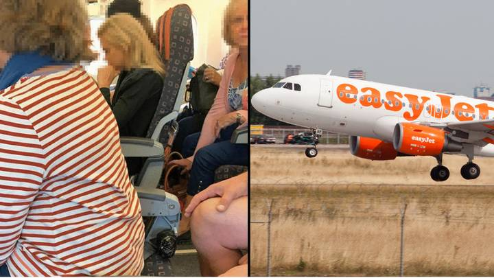 People Pictured Sitting In Seats With No Backs On EasyJet Plane