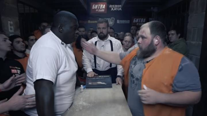 Towering MMA Star Takes On 300lb Russian Star In Slapping Contest