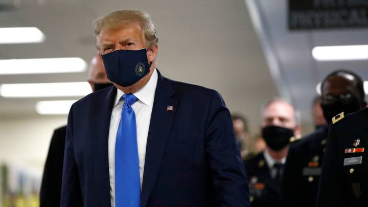 Donald Trump Has Finally Worn A Face Mask In Public
