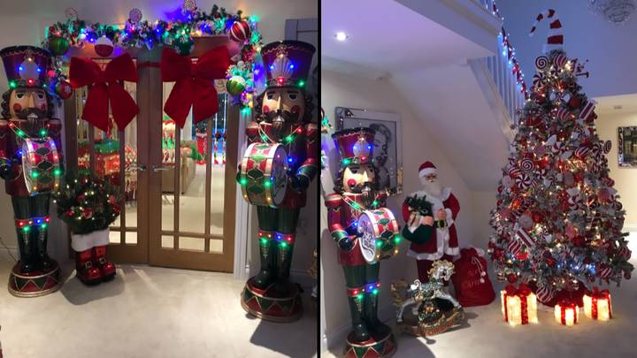 Mum Spends £3,000 On Christmas Decorations, Turning Home Into Winter Wonderland