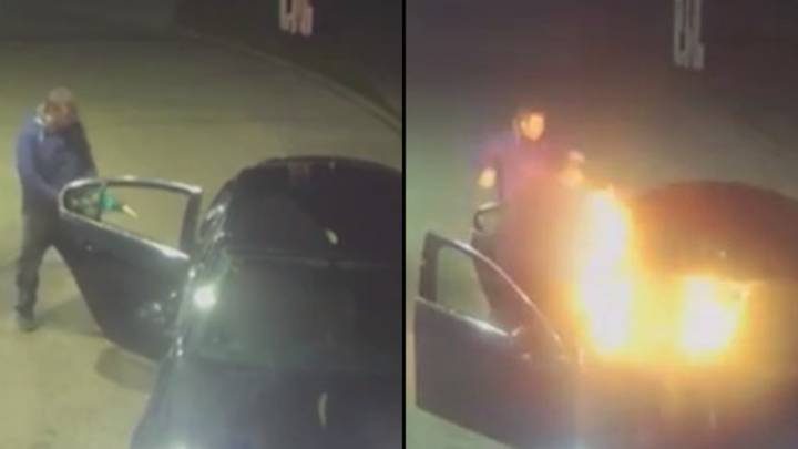 Arsonists Ask Taxi Driver To Stop For Beer Then Set Fire To His Car