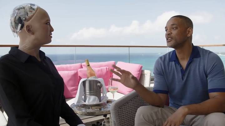 Will Smith Goes On A Date With Sophia The Robot And It's Awkward AF