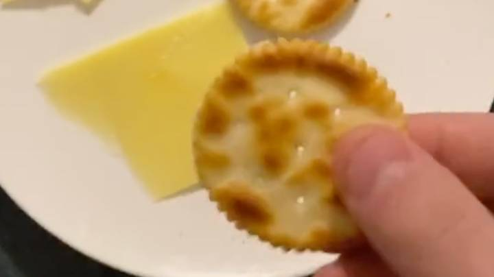 Man Discovers You Can Cut Cheese Using Jagged Edges Of Arnott's Crackers