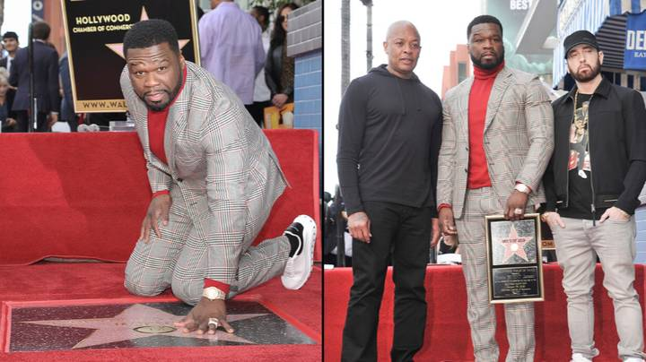 50 Cent Has Received A Star On The Hollywood Walk Of Fame