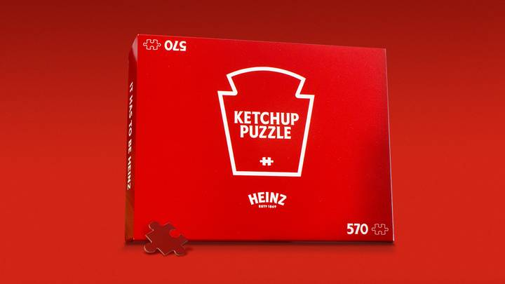 Heinz Has Made A 570 Piece Jigsaw That Is Completely Red