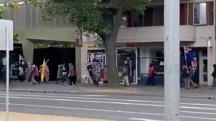 Pro-Trump Protestors Spotted Marching Through The Streets Of Melbourne