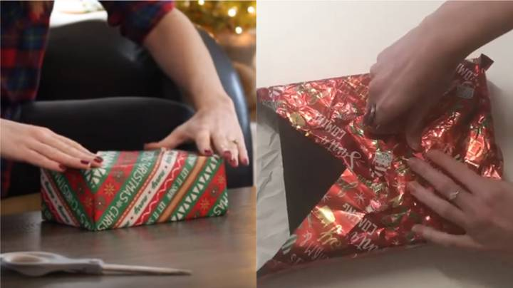 YouTuber Shares Christmas Present Wrapping Hack