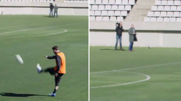 Lionel Messi Casually Nutmegs Reporter From 50-Yards