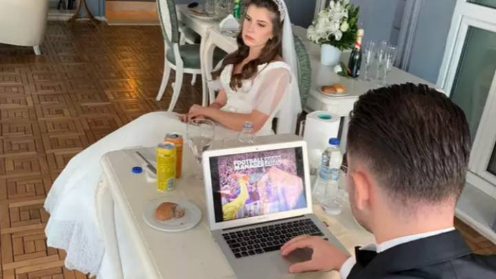 Groom Takes Laptop To Wedding And Plays Football Manager