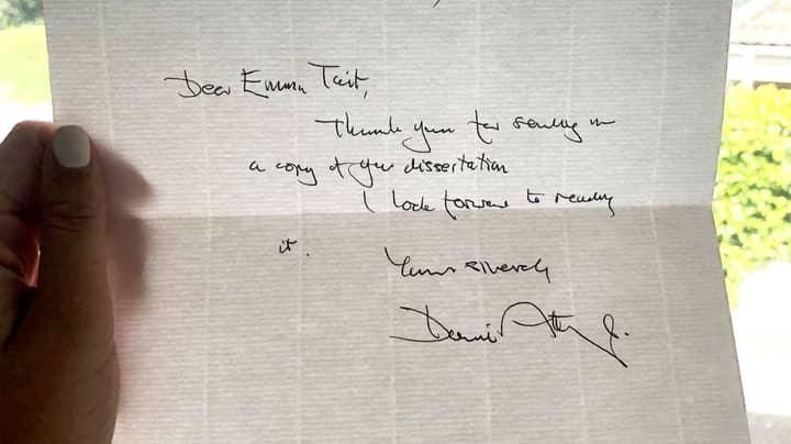 David Attenborough Sends Handwritten Letter To Student Who Sent Him Her Dissertation