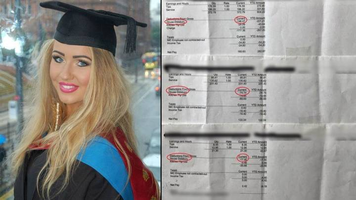 Waitress Reveals Her Payslips To 'Prove' Restaurant Was Taking Her Tips