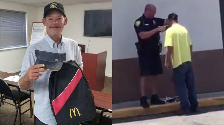 Homeless Guy Starts First Day At McDonald's After Police Officer Helped Him Shave For Interview