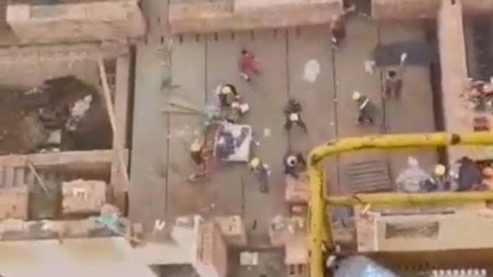 Video Shows Huge Brick Fight Breaking Out Between Builders On Building Site