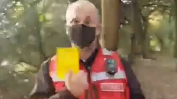 Covid Marshal Issues Yellow Card To People Accused Of Flouting Lockdown Rules