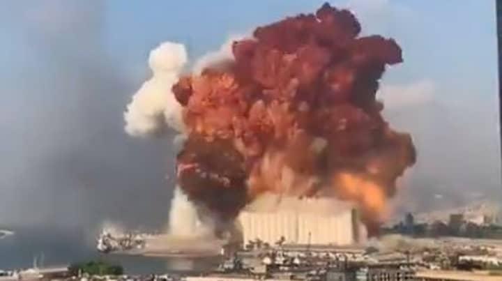 Huge Explosion In Port Of Lebanese Capital