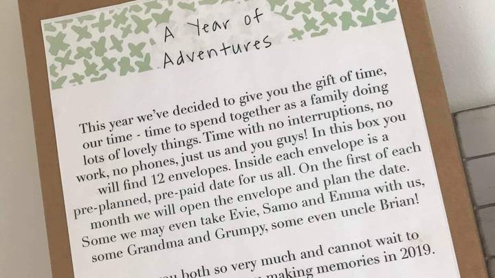 Mum Saves Money For Christmas By Offering Kids 'The Gift Of Time' Instead Of Presents