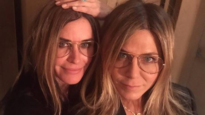 Courteney Cox Dresses As Jennifer Aniston For Friends Co-Star's Birthday