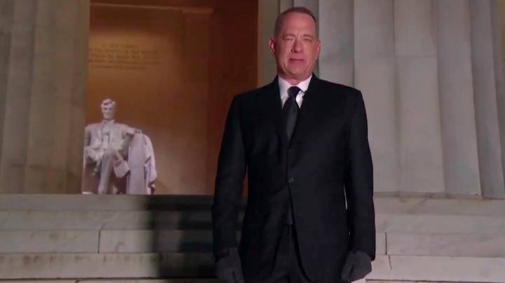 People Thought Tom Hanks Needed Warmer Clothes At Biden Inauguration Celebration